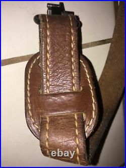 Vintage Used Torel Padded Leather Rifle Sling with Quick Release (See Pics)