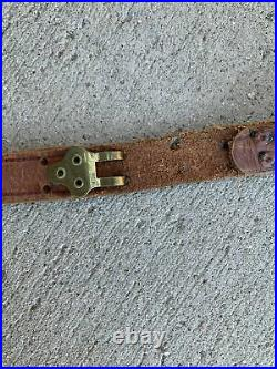 Vintage WWII US M1 Garand Rifle Leather Rifle Carry Sling Collectible