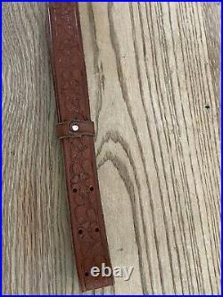 Vintage York Arms Memphis TN Gun Rifle Leather Sling Hunting Safari