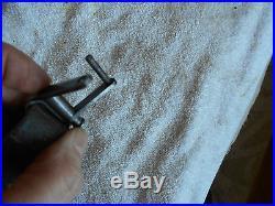 WW1 German GEW 98 8mm mauser rifle black leather sling w quick release swivel
