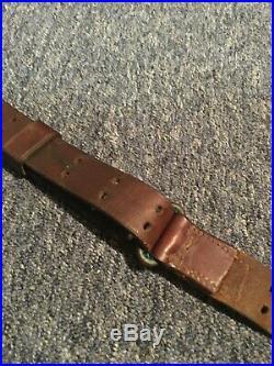 WW1 US M1907 Leather Rifle Sling, Harvey Wheeler 1917