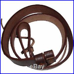 WW2 British Army Lee Enfield Rifle Sling Dark Brown Leather Repro x 5 UNITS