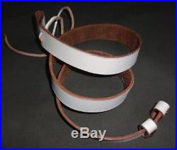WW2 British Army Lee Enfield Rifle Sling WHITE Color Leather Repro x 5 UNITS