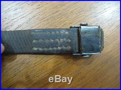 WW2 German K98 Kar98k 98k Leather Mauser Rifle Sling Original Marked 1938