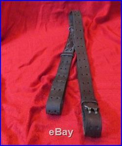 WW2 M1 Garand Leather Rifle Sling Marked Milsco 1944
