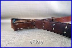 WW2 M1 Garand Rifle Sling 30-06 WWII Leather Strap 1903 Springfield Sniper