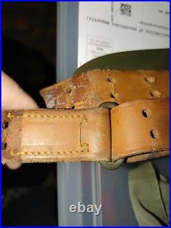WW2 Original M1 Garand M1907 MILSCO 1943 Leather Rifle Sling Springfield 1903