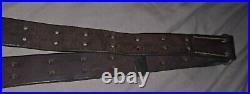 WW2/WW1 Original M1 Garand M1907 Hunter Leather Rifle Sling Springfield 1903