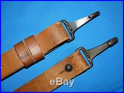 WWII Japanese Leather Arisaka Rifle, Machine Gun Sling