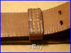 WWII M1907 USGI MILSCO Leather Rifle Sling 1943 USA