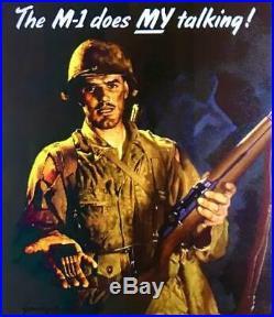 WWII M1 GARAND RIFLE NON-FIRING REPLICA w. LEATHER SLING (AGED) NICE SET