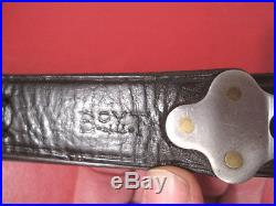 WWII US ARMY AEF M1907 Leather Sling M1903 Springfield Rifle Marked Boyt -44