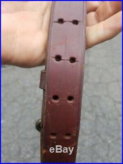 WWII US ARMY AEF M1907 Leather Sling M1903 Springfield Rifle WW2