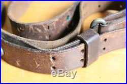 WWII US ARMY M1907 Leather Rifle Sling 1918 Date Chicago Belting Company
