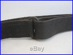 WWII U. S. 1903 SPRINGFIELD GARAND M1 RIFLE M1907 LEATHER SLING BOYT MARINE ORIG