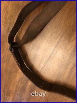 WWI Era US ARMY AEF M1907 Leather Sling M1903 Springfield Rifle Original