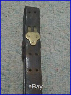 WWI US ARMY H&P 1918 WEH Stamped M1907 Leather Rifle Sling M1903 Springfield