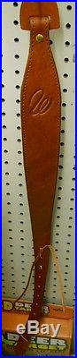 Weatherby Leather Padded Rifle sling With Swivels -worldwide Shipping