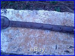 Wild Alligator leather Rifle Long gun Sling strap Swamp Skin Gator Hide 35