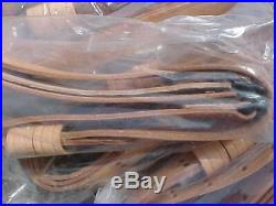 Wwii Repro Rifle Sling Lot Of 5 Tan Leather